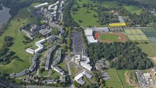 Norwich Research Park, University of East Anglia, with new site of Enterprise Centre highlighted in yellow