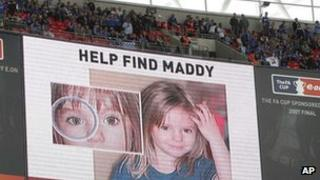 Find Maddy poster, seen at 2007 FA Cup Final