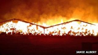 Fire at Chariswood Farm Barn