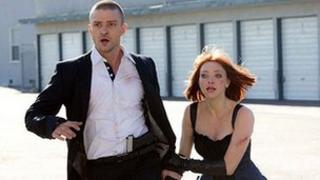 Justin Timberlake and Amanda Seyfried in a scene from In Time