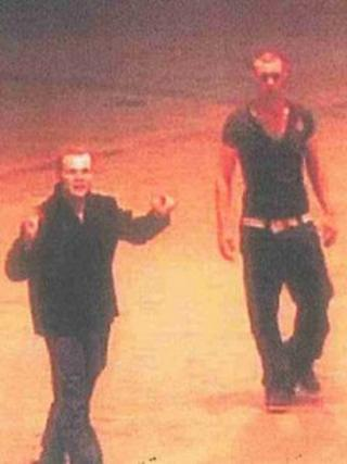 CCTV image of two men who may have seen a fatal assault of Jonathan Alun Turner outside The Social pub in Stockwell Gate, Mansfield