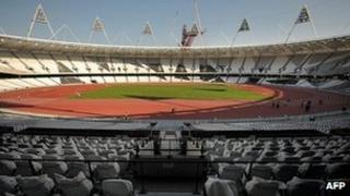 The Olympic Stadium in Stratford, east London