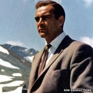 Sean Connery as 007 in Goldfinger