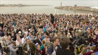 Crowds on Margate seafront for Turner Contemporary opening