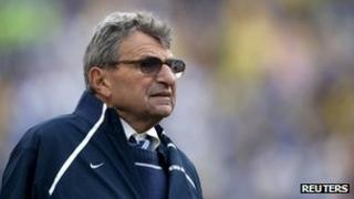 Joe Paterno, coach of the Penn State American football team 1 January 2010
