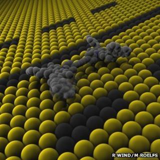 Nano-car molecule artwork (Randy Wind/Martin Roelfs)