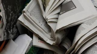 generic newspaper recycling