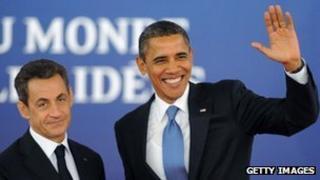 Presidents Sarkozy and Obama