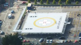 New helipad at Southampton General Hospital