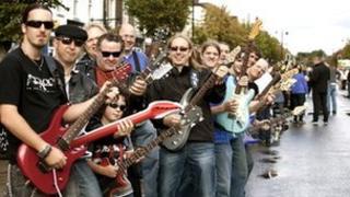 Wootton Bassett Rocks! musicians in the High Street