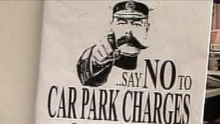 Anti-parking charges poster