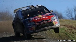 A car taking part in the Wales Rally GB 2010 (picture: worldrallypics.com)