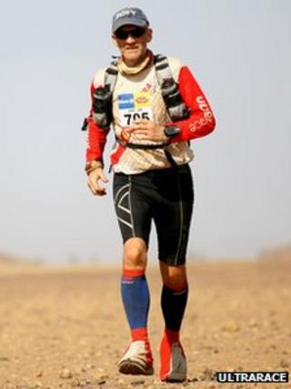 Rory Coleman during the Marathon des Sables