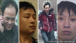 Gang members. Pics: SCDEA/Northern Constabulary