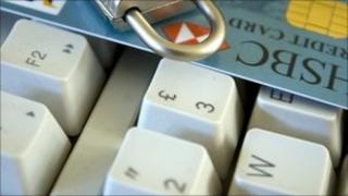 keyboard and credit card