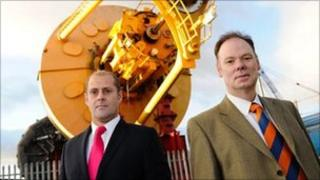 Port Services Group's Paul Clark and Martin Rattray at yard