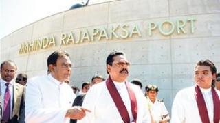 President Rajapaksa at Hambantota Port