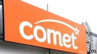 Comet store sign