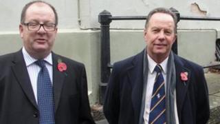 Rob and Ken Walter from Dartford Cricket Club at the Graham Dilley memorial service