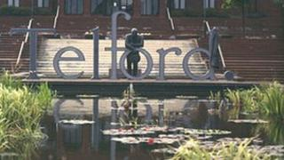 Telford town centre sign