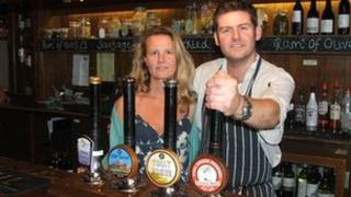 Georgie and Mike Keen, Brewery Tap, Ipswich
