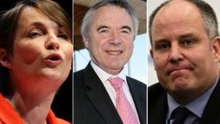 Kirsty Williams, Ieuan Wyn Jones and Andrew RT Davies