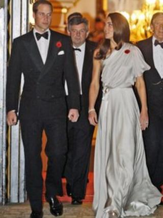 The Duke and Duchess of Cambridge arriving