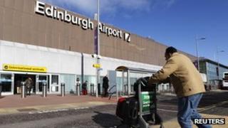 Passenger at Edinburgh Airport