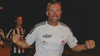 Mr Allison arrives in New York after his gruelling 100-day feat