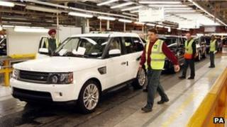 Rover production line