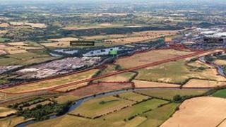 The development site at Branston