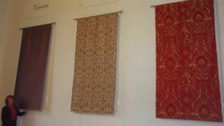 Silk hangings at Sudbury Town Hall