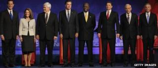 Republican presidential candidates in Michigan on 9 November 2011