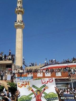 Anti-government protest in Deraa, Syria
