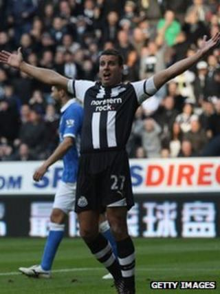 Newcastle United's Steven Taylor during the match against Wigan in October