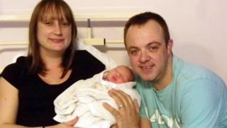 Gill and Damian Campsey with their new baby daughter Megan Louise