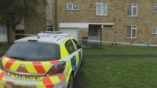 Police outside flats