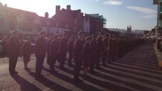 Remembrance Sunday parade in Marlborough