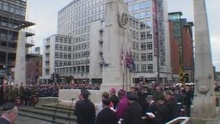 Remembrance service in Manchester