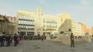 A service was held at the Cenotaph in Bristol on Remembrance Sunday