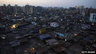 Dharavi, Asia's biggest slum, in Mumbai