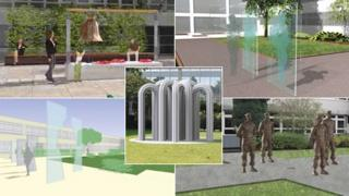 Five designs for a new war memorial in Leicestershire