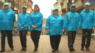 A team hired to provide Nottingham people information about the city