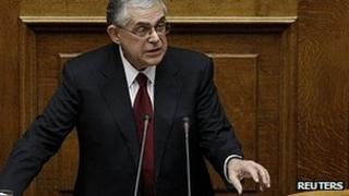 Lucas Papademos. 14 Nov 2011