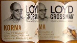 The affected product is a Loyd Grossman korma sauce
