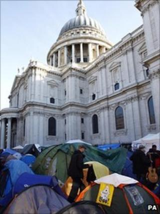 Protest camp outside St Paul's Cathedral