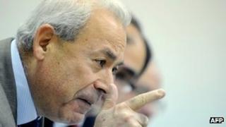 Burhan Ghalioun speaks in Moscow. Photo: 15 November 2011
