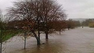 Flooding in Cumbria (pic courtesy of John Moore)