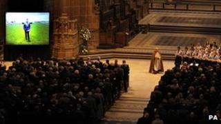 Ginger McCain memorial service