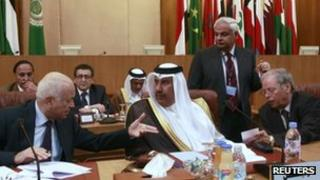 Arab foreign ministers meets to discuss the crisis in Syria in Cairo on 12 Nov 2011